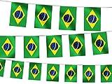 WM 2014 8M Wimpelkette Fahnenkette Flaggenkette 32 Teilnehmerländer Fanartikel, wählen:W-BR Brasilien 4.50 m