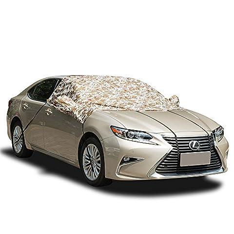 FREESOO Protection Antigel pour Pare-Brise utile toute l'année pour protéger votre voiture contre le gel, la glace, le givre, la neige et les UV Couleur de camo
