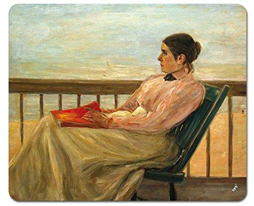 1art1 109704 Max Liebermann - Martha Liebermann, Die Gattin des Künstlers Am Strand 1895 Mauspad 23 x 19 cm -