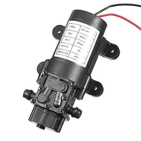 sourcingmap® Water Pressure Diaphragm Pump DC 12V with Switch 2.8 L/Min 73 PSI 25W Electric Self Priming Sprayer Pump for RV Caravan Marine Boat