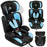 Kidiz® Autokindersitz Kinderautositz Sportsline ✓ Gruppe 1+2+3 ✓ 9-36 kg ✓ Autositz ✓ Kindersitz | Stabil und Sicher | | Farbe: Hellblau