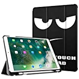 "FINTIE Custodia per iPad Air 10,5"" 2019 (3a Gen) / iPad PRO 10,5"" Pollici 2017 con Built-in Apple Pencil Holder - Ultra Sottile Leggero Case Cover con Auto Sveglia/Sonno Funzione, Don''t Touch"