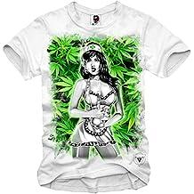 E1SYNDICATE T-SHIRT WEED GIRL BONG NURSE DOPE GRAS MARIHUANA DAB