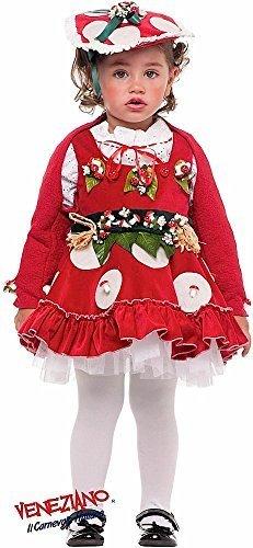 Fancy Me Italian Made Deluxe Baby & Kleinkinder Mädchen Pilz Natur Pilz Blume Fee Kostüm Kleid Outfit 1-3 Jahre - 1 Year