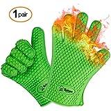 Un par de guantes de cocina (silicona) para horno y barbacoa resistentes al calor mejor valorados – Los guantes Twinzee originales