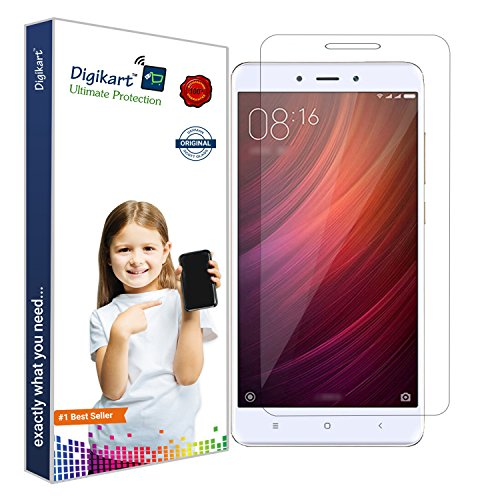 Digikart Mobile Screen Protector Transparent Tempered Glass for Redmi Note 4