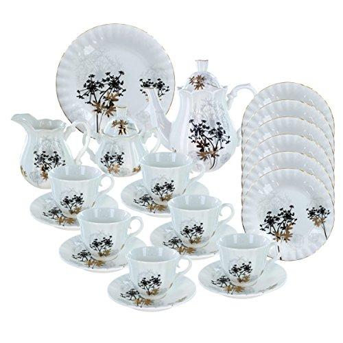 Verveine Deluxe Ensemble à thé en porcelaine