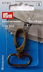 Prym 25 Mm Snap Hook, Antique Brass