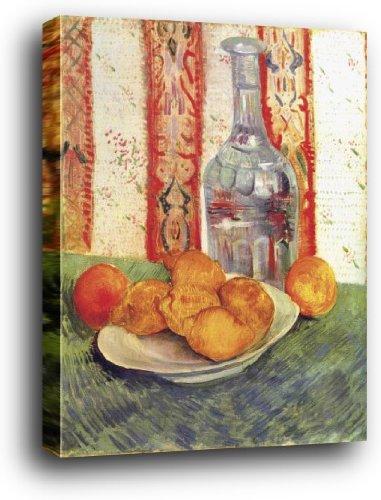 1art1® Vincent Van Gogh Poster Reproduction sur Châssis (Bois) - Nature Morte avec Bouteille Et Citrons sur Une Assiette (50 x 40cm)