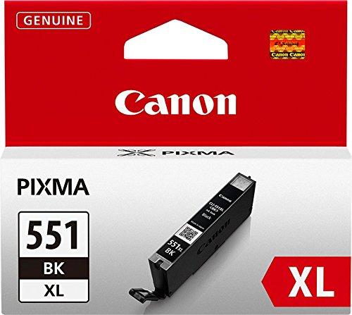 Canon CLI-551XL original Tintenpatrone  Schwarz XL für Pixma Inkjet Drucker MX725-MX925-MG5450-MG5550-MG5650-MG6350-MG6450-MG6650-MG7150-MG7550-iP7250-iP8750-iX6850