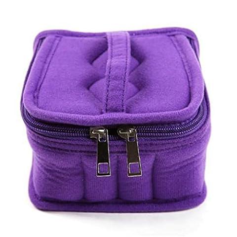 HENGSONG 1x Aromathérapie Diffuseur de Stockage Huile Essentielle Carry Case Bag Box Organizer Trousse de Maquillage (Violet)