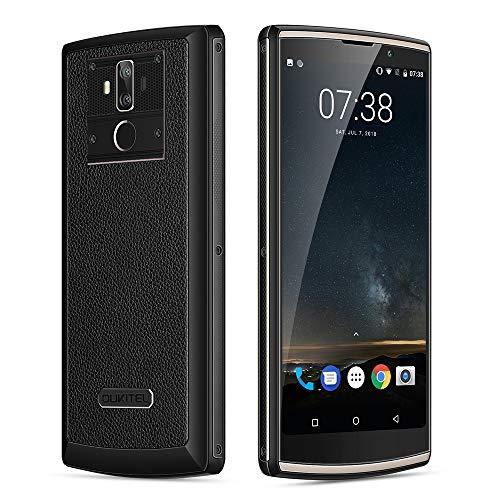 Oukitel K7 Smartphone 4G, Batteria 10000mAh, 6.0 Pollici FHD+ Schermo (Proporzione 18: 9)Android 8.1 Telefono Cellulari, Batteria 11000mAh, MTK6750T Octa Core 1.5GHz, 4GB RAM + 64GB ROM, 13.0MP+2.0MP+5MP Camera,Smartphone Dual Sim, Wifi,GPS OTG OTA Cellulare - Nero