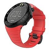 MoKo Watch Armband für Suunto Core - TPU Sportarmband Uhr Band Strap Erstatzband Uhrenarmband für Suunto Core Samrtwatch, Armbandlänge 140mm-230mm, Rot