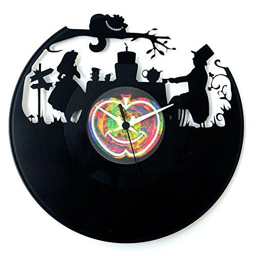 Regalo Alice nel paese delle meraviglie accessori orologio in vinile orologio cartoni animati alice in wonderland tim burton originale Vinyluse