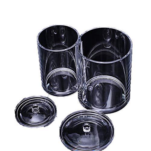 Schmink aufbewahrung,Beauty Augenbrauenpinsel Make-up Pinsel Aufbewahrungsbox, 2Fässer mit Deckel