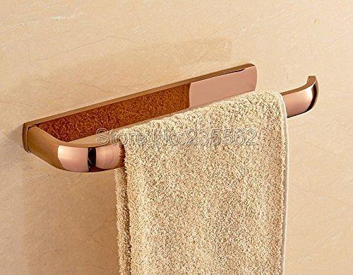 Accessori Dorati Per Bagno.Lnxd Rosa In Ottone Dorato Accessori Bagno Montato A Parete Singola Barra Asciugamano Titolari