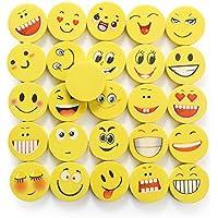 24 Pièces Ensemble Gomme Emoji | Gommes à Emoticône qui Rit pour Enfants | Cadeau d'Anniversaire de Retour | Gomme Colorées et Drôles | petits cadeaux anniversaire enfant | cadeau pour pochette anniversaire | remplir le sac-cadeaux | adapté pour les garçons et les filles | Cadeaux invités | Price cadeau | Jouet à Smiley pour Enfants | Beyond Dreams |