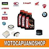 Kit de mantenimiento para Yamaha T-Max 500: aceite Motul 7100 10W40 y filtros