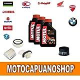 Kit Tagliando Yamaha Tmax 500Aceite Filtros 2004200520062007Motul 710010W40