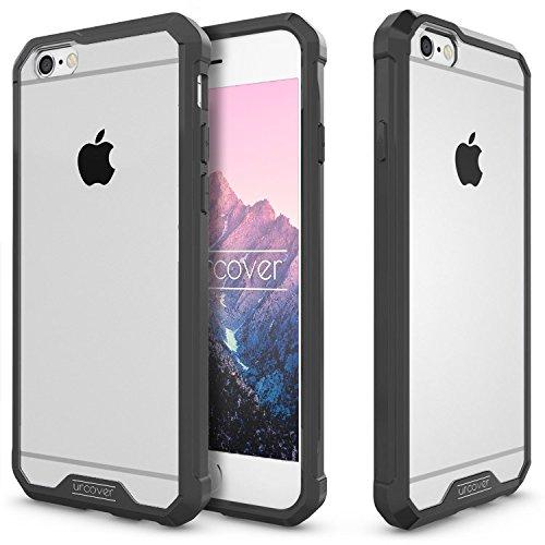 URCOVER Coque Armor Case TPU Housse Protection pour | Apple iPhone 6 Plus / 6s Plus | TPU Souple et Bumper Antichoc en Transparent Noir