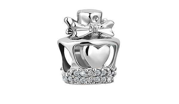 Korliya C/œur Amour avec cristal Perle charm pour bracelet