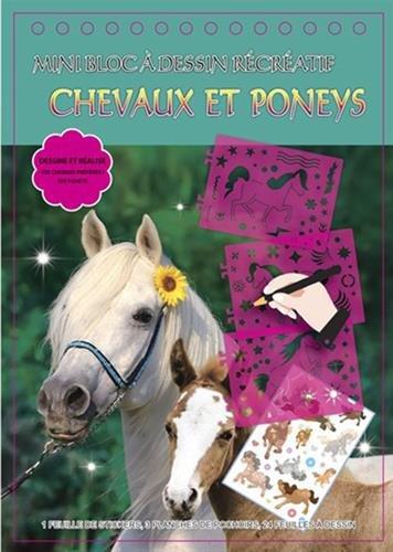 Chevaux et poneys : Mini bloc à dessin récréatif