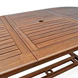 "Wooden Garden Dining Table ""Vanamo"" In.- Outdoor Patio Conservatory Oval Furniture 6 Seater"