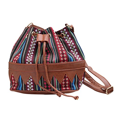 YiLianDa Vintage Canvas Umhängetasche Schultertasche für Arbeit Uni Reise Retro Freizeit Handtasche B