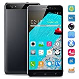 HyRich® Unlocked 6 inch Android 5.1 3G Smartphone GSM Cell Phone Dual Sim 1G RAM Fast 8GB ROM (Iron-Gray)