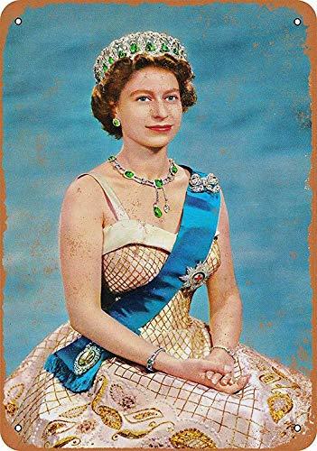 Küche Queen (Wise Degree Metal Poster 1954 Queen Elizabeth II Metall Poster Wand Küche Kunst Cafe Garage Shop Bar Dekoration)