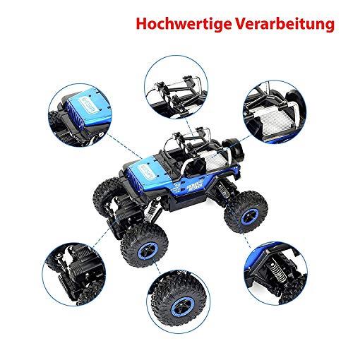 RC Crawler kaufen Crawler Bild 1: Ferngesteuertes Autos,RC Auto Rock Crawler,1:18 Ferngesteuertes Monstertruck,4WD Elektrisches Offroad Fahrzeug (Blau)*