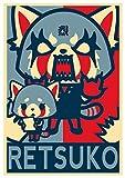 """Poster Aggretsuko """"Propaganda"""" Retsuko - Formato A3 (42x30 cm)"""