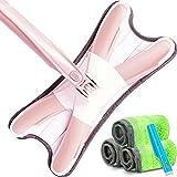 Zhihui carlin ZZHF tuoba Mop a base piatta/Lavaggio a mano gratuito/X-tipo Auto-spremere l'acqua/Ruotare/Microfiber in acciaio inossidabile/Zazzera a doppio uso bagnata e asciutta Mocio