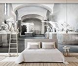 Wxlsl Moderne Graue Europäische Raum-Hintergrundwand Der Skulptur 3D Der Kundenspezifischen Art Der Tapete Der Tapete 3D-250Cmx175Cm