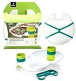 TCM Tchibo 4pièces camping Set de vaisselle assiette et tasse Extra-Léger plastique