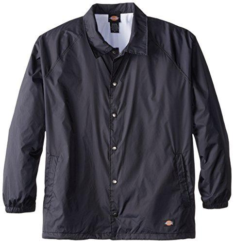 Dickies Herren Jacke Big & Tall Snap Front Nylon - Blau - 5X-Groß Snap-front-jacke