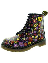a09141dc844 Dr.Martens Delaney Black Multi Kids Boots, Black, 3 UK