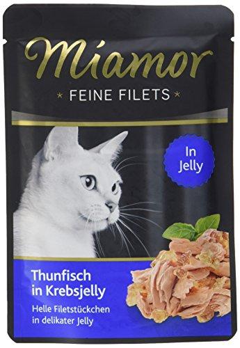 Miamor Feine Filets in Jelly Pouch Thunfisch in Krebsjelly, 24er Pack (24 x 100 g)