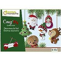 Avenue Mandarine Boîte créative, Décorations de Noël Mini Couz'In, KC062C, Multicouleurs