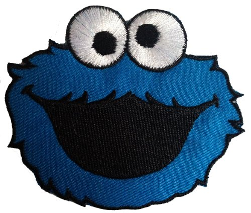 cookie-monster-sesame-street-the-muppets-patch-9-x-75-cm-embroidered-iron-on-patches-sew-on-patches-