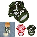 HP95(TM) Pet Dog Cat Camo Clothing Hoody Apparel Puppy Doggy Camouflage Coat T-Shirt (L, ArmyGreen)