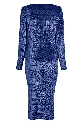 next Robe en velours froncé Petite Femme Cobalt