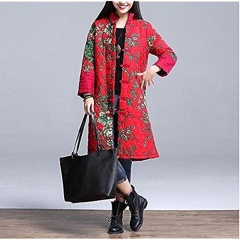 &zhou Otoño/invierno/mujeres / China National/delgado/moda/retro/rojo/largo/peludo/abrigo del viento , red ,