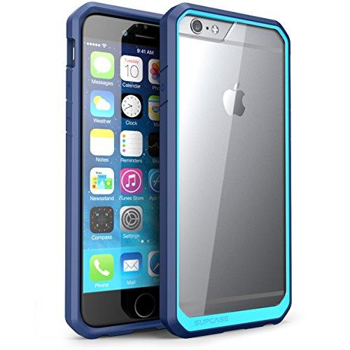 Succase Schutzhülle für iPhone 6 Plus, 5,5 Zoll (14 cm) (Nicht für iPhone 6 11,9 cm), Apple iPhone 6 Plus, Clear/Blue/Blue