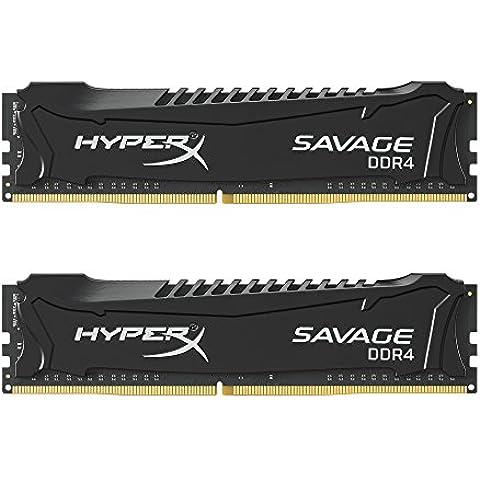 HyperX Savage HX421C13SBK2/16 - Memoria RAM de 16 GB DDR4 (2133 MHz, CL13, XMP, 2 x 8 GB)