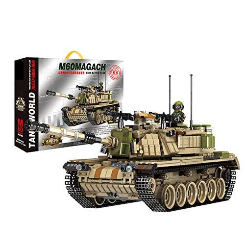 Yyz Military Series Kinder pädagogische Bausteine   Spielzeug M60 Margage Hauptpanzer Jungen Geburtstagsgeschenk