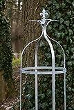 kuheiga Stabile Rankhilfe Metall H: 160cm Ø: 37cm Rankgerüst Obelisk Verzinkt