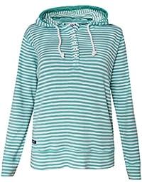 af369fd0 Lazy Jacks New Size XS - XXL Ladies Mint Navy White Narrow Stripe Hooded  Nautical Top