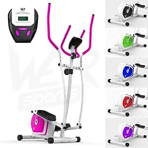 We R Sports Elliptique Traverser Entraîneur & Exercice Vélo 2-en-1 Maison Cardio Faire Du Sport (Rose)