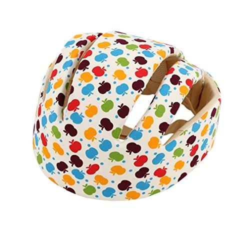 Gugutogo Cascos de seguridad para bebés Sombrero protector infantil de algodón Headguard Crashproof Hat (Color: flor de manzana)